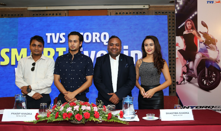 TVS Motor Company announces Swastima Khadka and Pradeep Khadka as Brand Ambassadors for TVS NTORQ 125 in Nepal